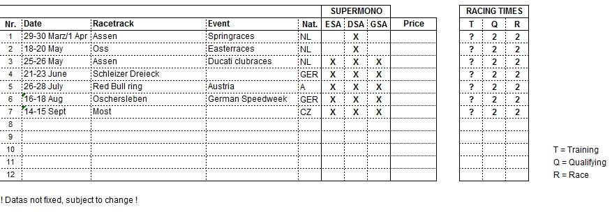 Supermono Eventkalender 2013